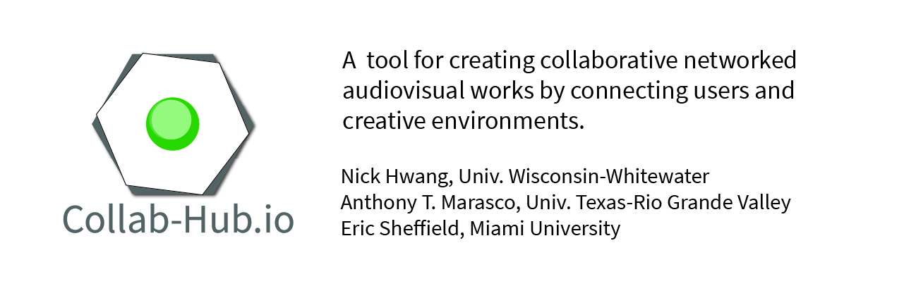 [July 12, July 19] Collab-Hub, a tool for interconnected audiovisual performance, installations, and more.
